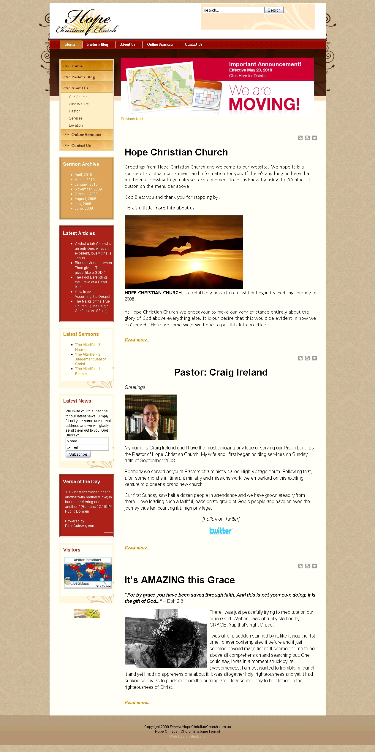 Hope christian church creator web design for Website layout creator