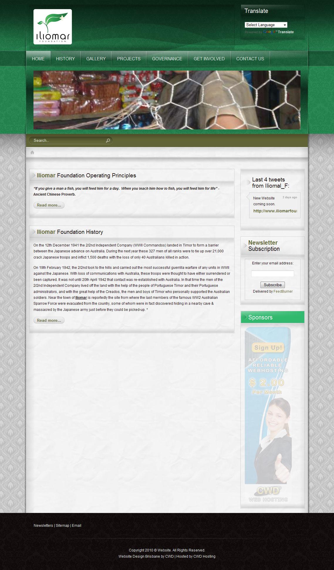 Iliomar foundation creator web design for Website layout maker