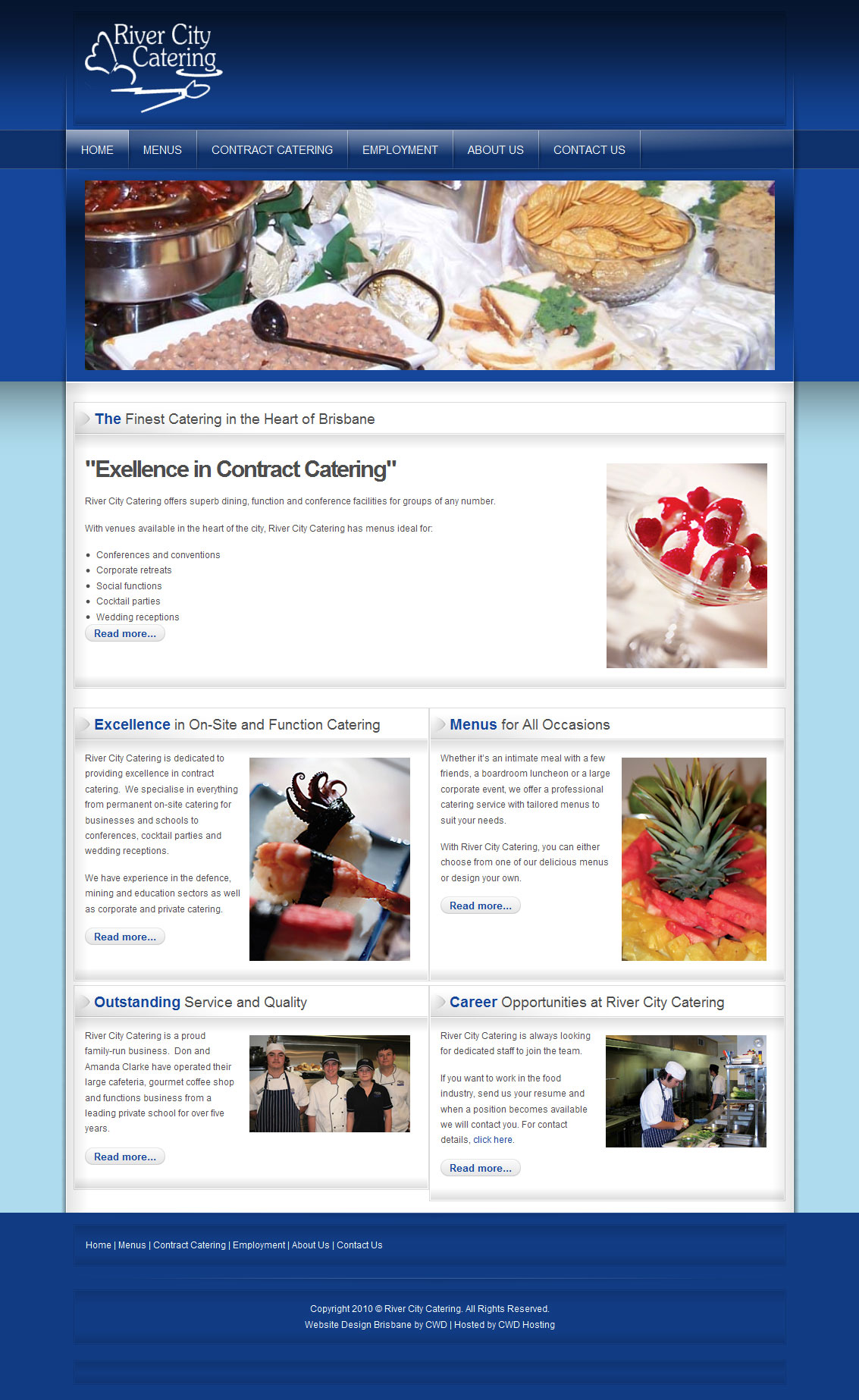 River city catering creator web design for Website layout creator