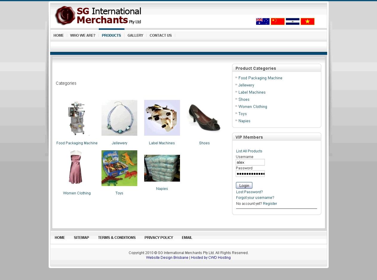 Sg international merchants creator web design for Website layout maker
